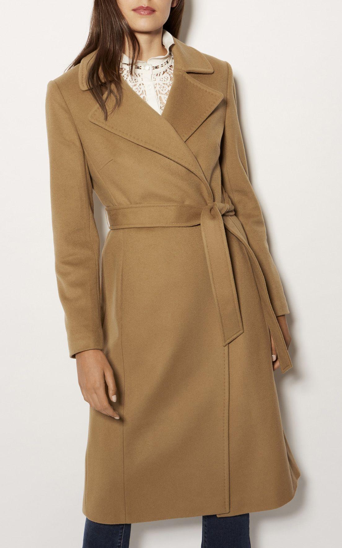 8cd51ff9bf3 Karen Millen, Italian Wool Mix Coat Camel | boutique | Belted coat ...