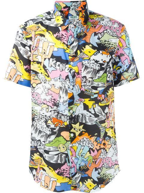012ce067 KENZO Cartoon Print T-Shirt. #kenzo #cloth #t-shirt | Kenzo Men ...