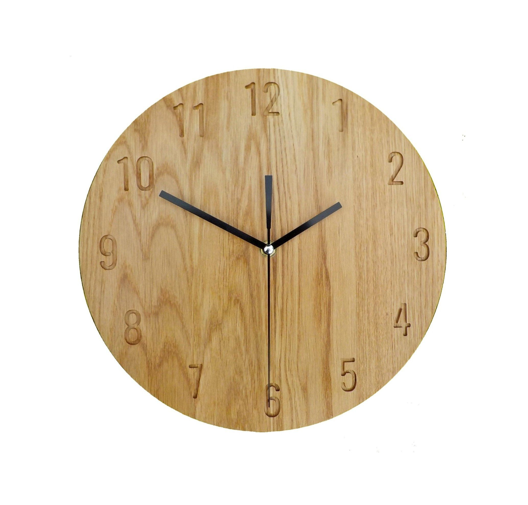 Warm Shade Oak Clock Natural Resin Modern Clock 28cm 11 Wall Clock Wooden Wall Clock Modern Wall Clock Naturdeco Wall Clock Modern Modern Clock Wooden Walls