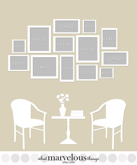Wall Display Template 15 Pack Gallery Wall Layout Photo Wall Decor Gallery Wall