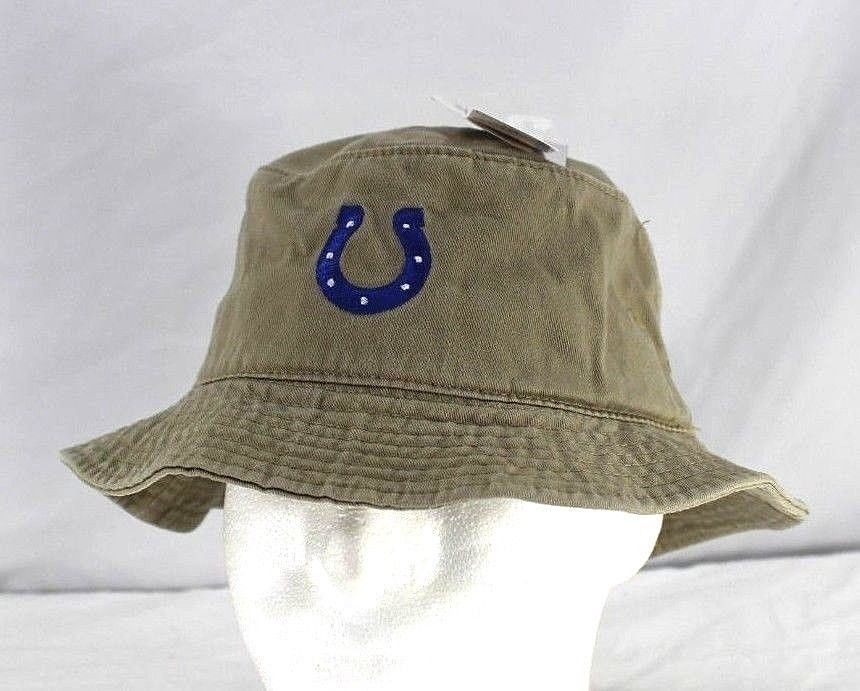 NFL Indianapolis Colts Khaki Bucket Hat Adult L XL ( Misc 1 ).  29175e4590cd