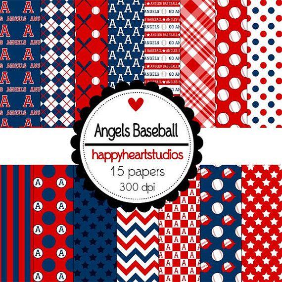 Digital Scrapbooking Angels Baseball By Azredhead On Etsy 150