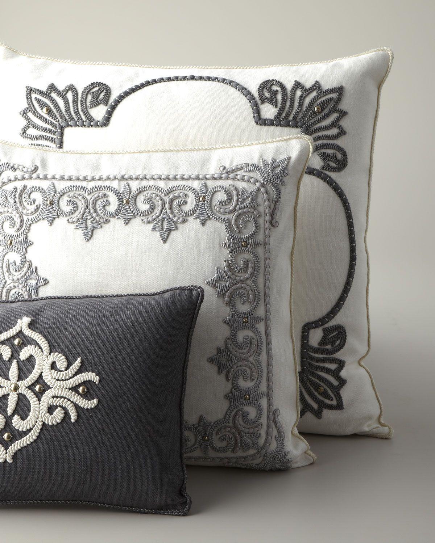 Ankasa Ivory & Gray Pillows - Horchow