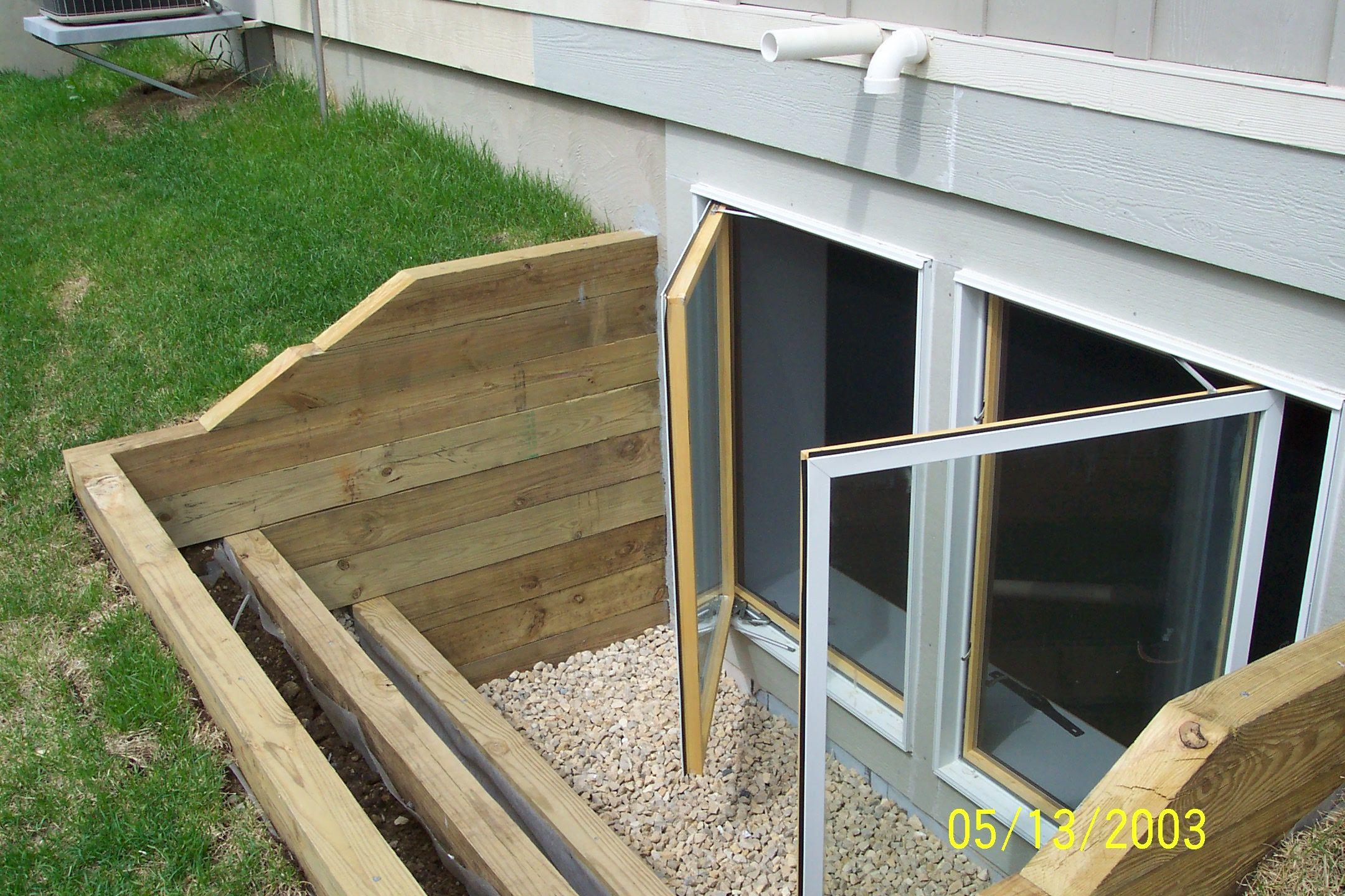 Cedar Window Well Basement Windows Egress Window Window
