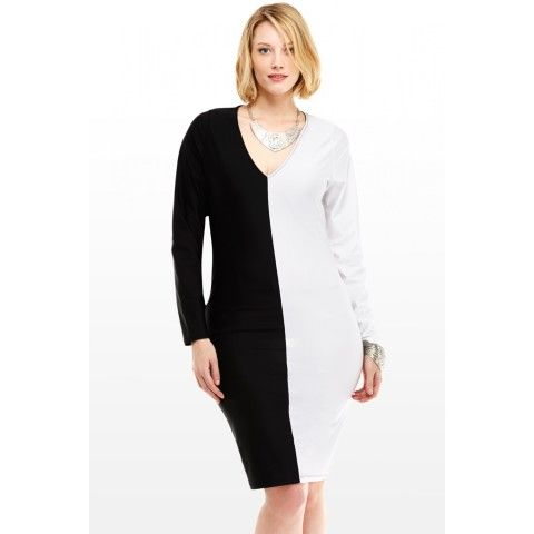 Black and white bodycon dress t shirts new years