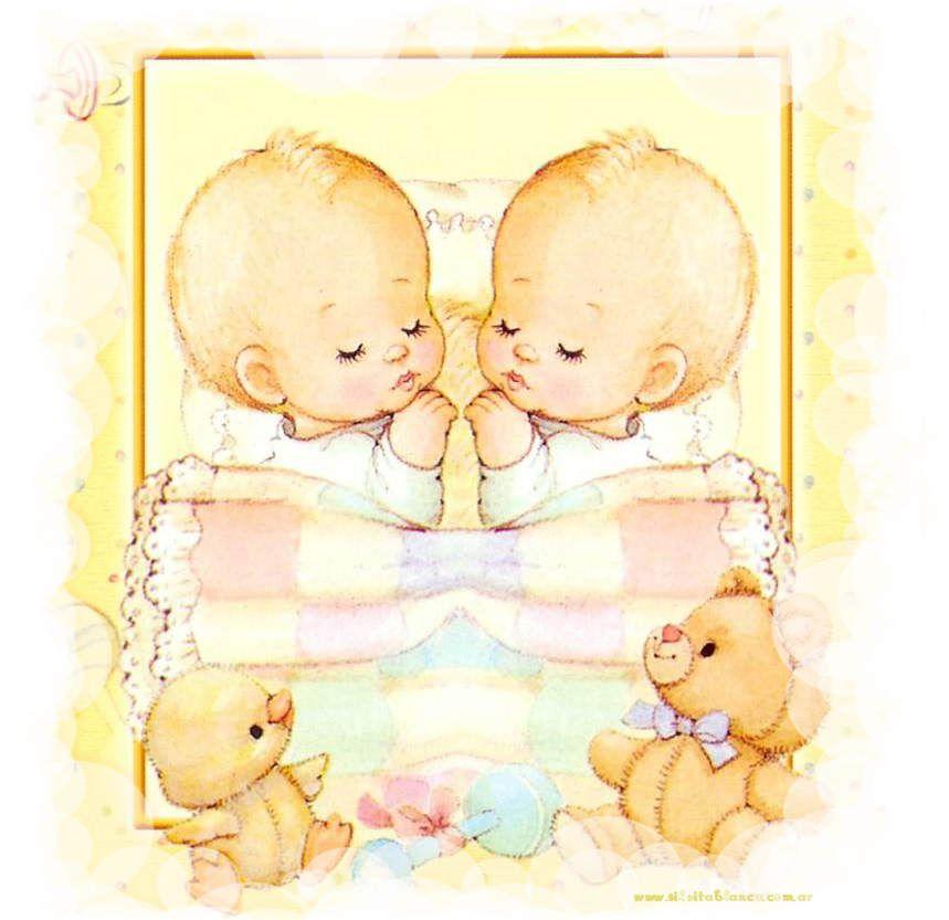 Открытка на 1 годик близнецам