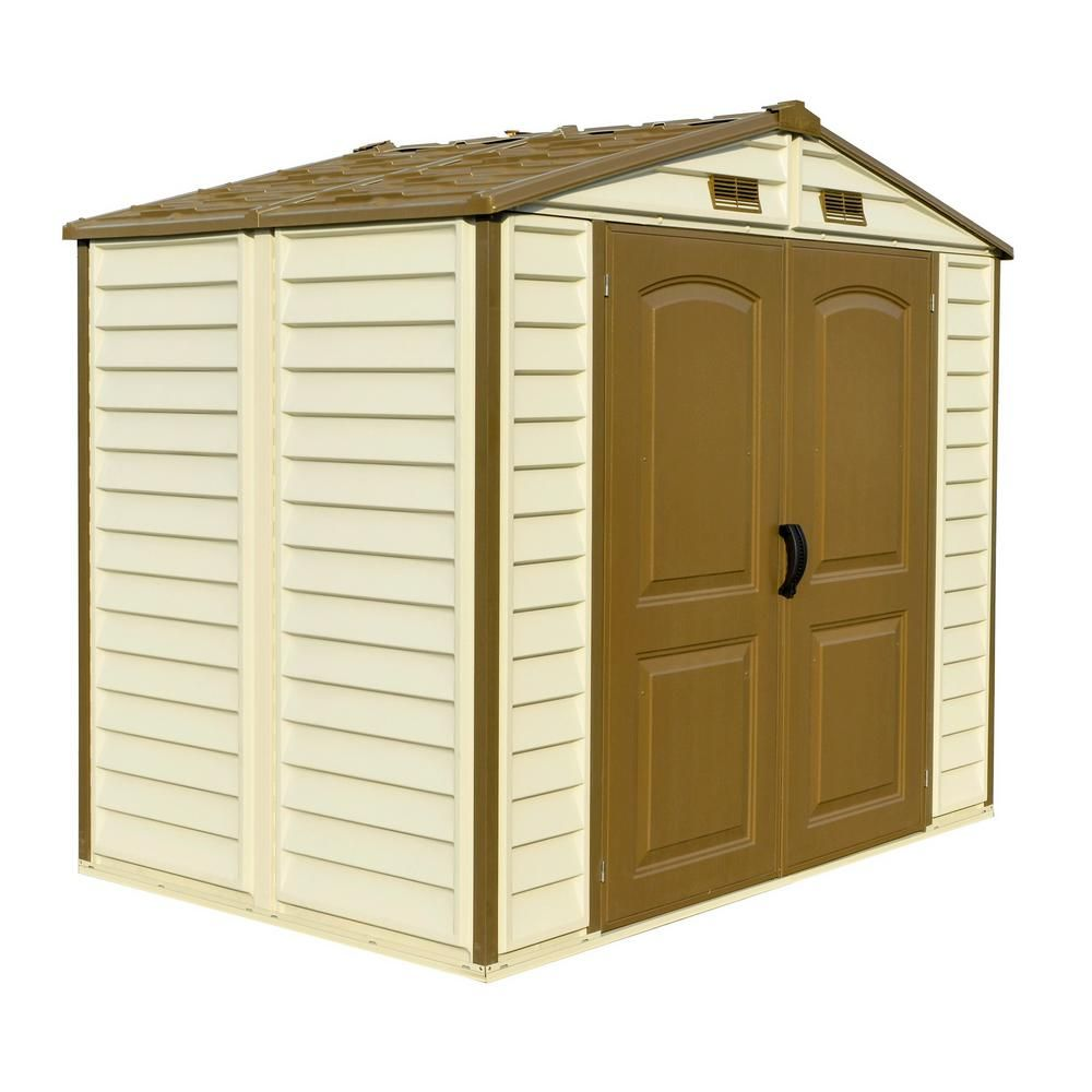 Duramax Building Products Store All 8 Ft X 6 Ft Vinyl Storage Shed 30115 The Home Depot In 2020 Vinyl Storage Sheds Vinyl Storage Storage Shed