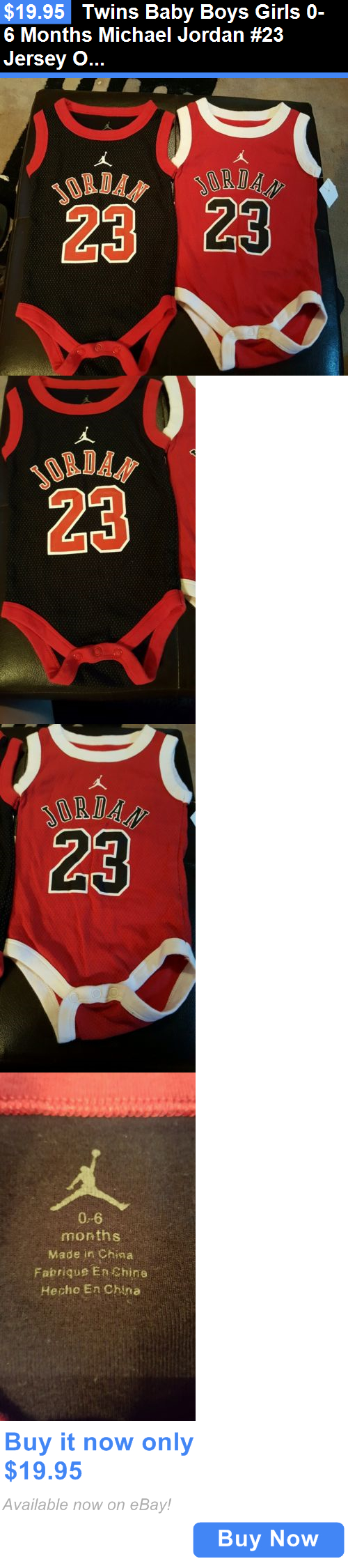 8f41bfcc198718 Michael Jordan Baby Clothing  Twins Baby Boys Girls 0-6 Months Michael  Jordan  23 Jersey Onesies Nba Bulls BUY IT NOW ONLY   19.95