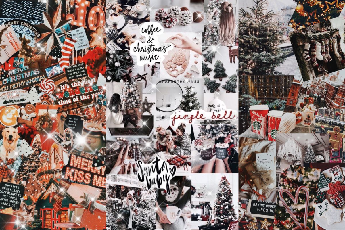 Christmas Winter Desktop Laptop Wallpaper Collage Christmas Desktop Wallpaper Christmas Wallpaper Xmas Wallpaper