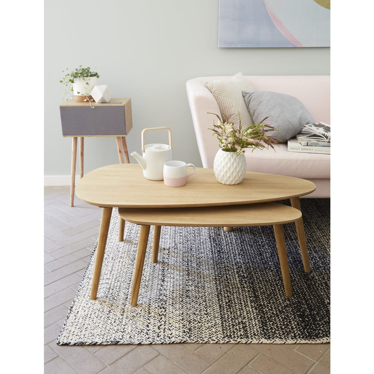Coffee Tables - Natural Look, Set of 2 | Kmart | (Home) Where the ...