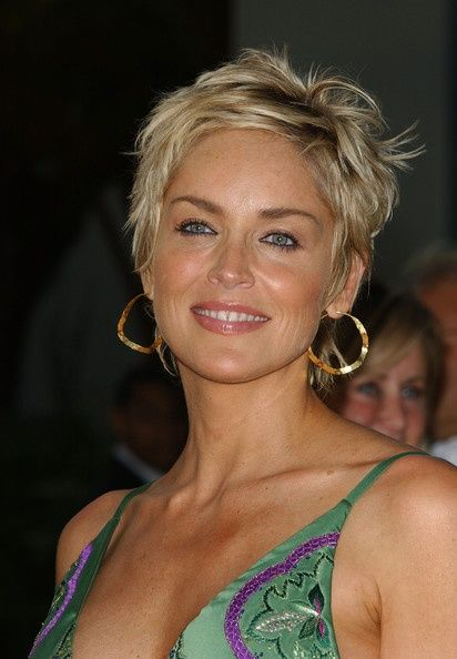 12 Impressive Sharon Stone Short Hairstyles in 2019 Hair