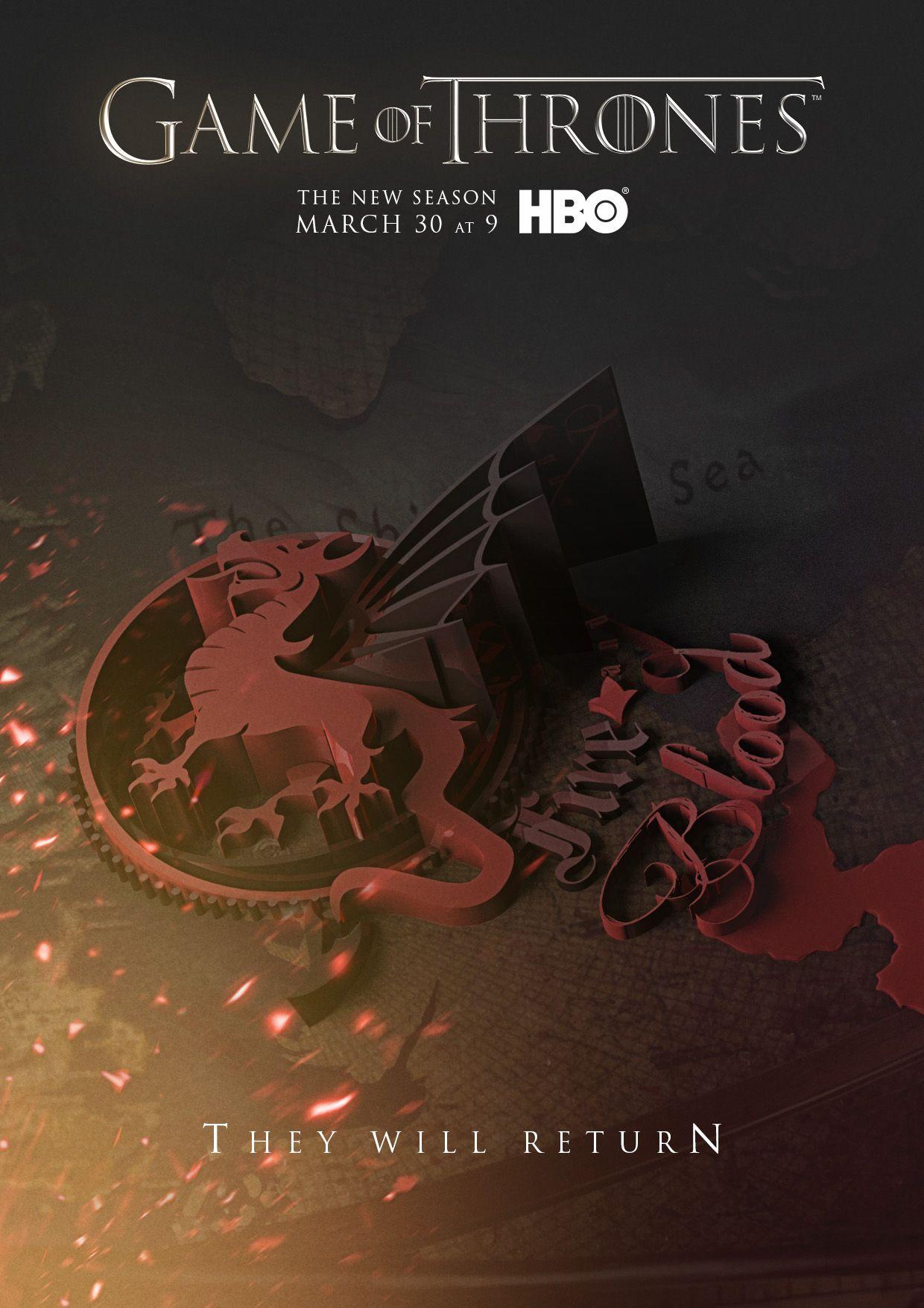 Game Of Thrones Season 4 Posters | Advertising | Pinterest