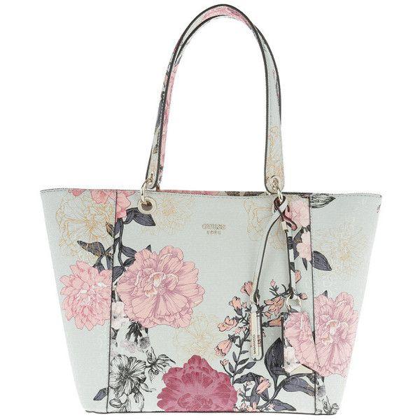 Guess Handle Bag - Kamryn Tote Grey Floral - in colorful - Handle Bag. 301fdccdb1