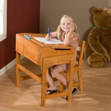 1cc8f765119 Schoolhouse Desk and Chair Set - Pecan