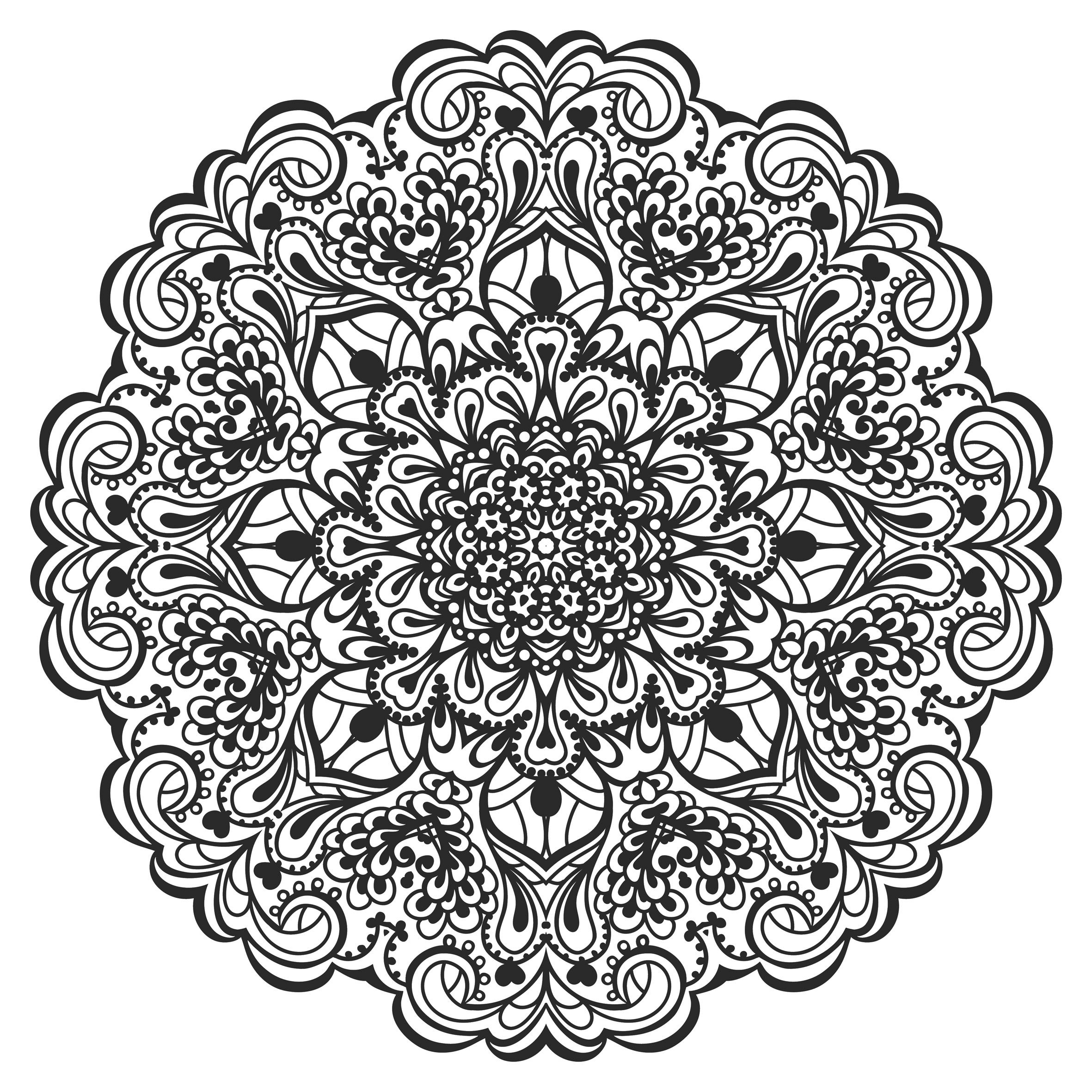 Lotus Flower Mandala To Color Bing Images Pinterest