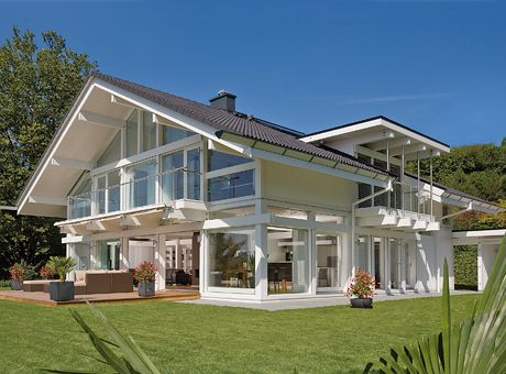 The White House Fertighaus. Hausserie Exklusiv Argehaus Hausbau Home ...