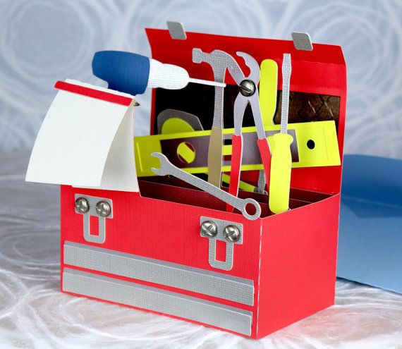 Father S Day Tool Box Tools Pop Up Greeting Card Dad Pop Papa