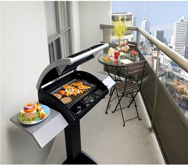 Bbq On The Balcony Or In The Garden Coal Gas Or Electric Balcony Grill Best Electric Grill Built In Grill