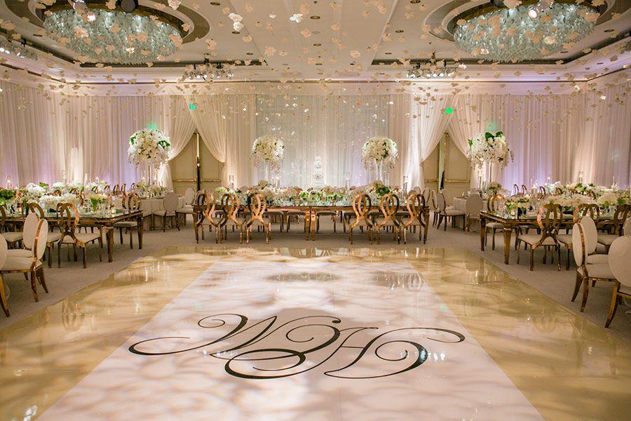Glamorous Four Seasons Los Angeles Wedding Reception
