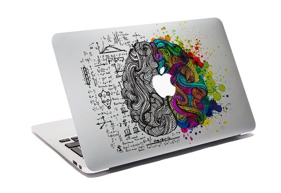 Macbook Decal Think Different Creative Sticker For Computer Think - Custom vinyl decals for macbook pro