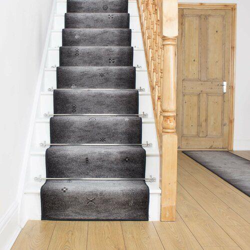 Best Almada Graphite Stair Runner Rug Rosalind Wheeler Rug Size 400 x 300