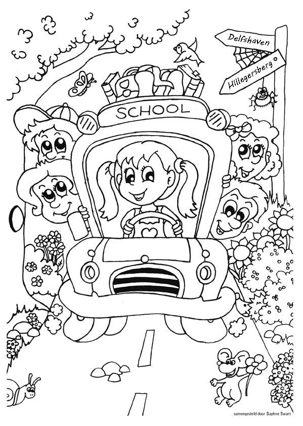 Kleurplaten Voor Afscheid.Eigen Kleurplaat Voor Het Afscheid Van Het Kinderdagverblijf Basis
