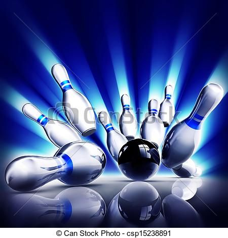 Stock Illustration Of Bowling 3d Illustration Of A Strike Csp15238891 Search Vector Clipart Drawings Illustrations Bowling Pins Bowling Pictures Bowling