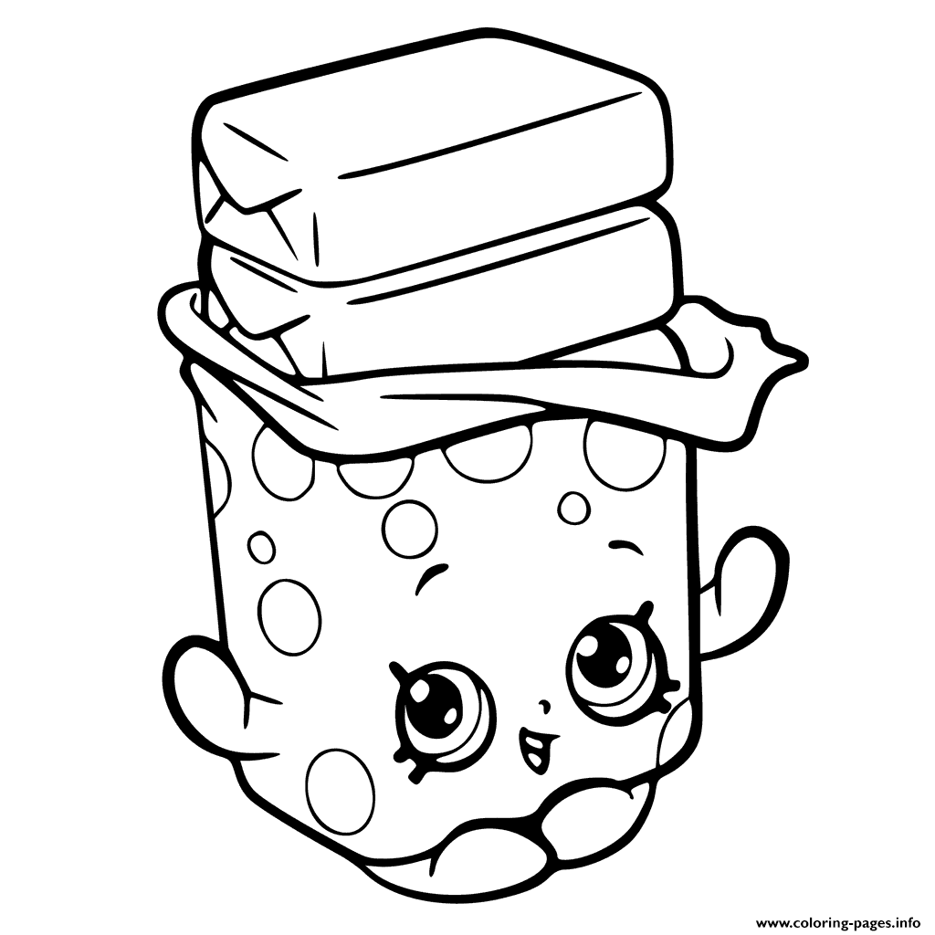 Print bobby bubble gum shopkins season 6 coloring pages