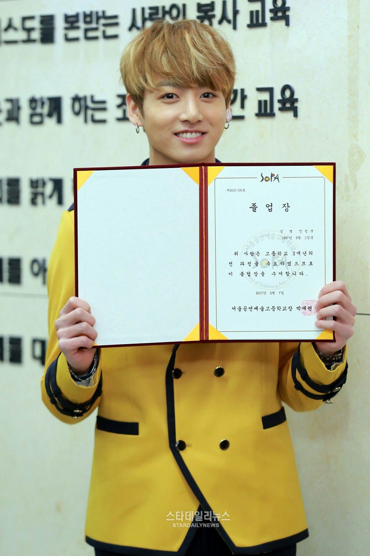 Jungkook's high school Graduation Ceremony   Jungkookie [정국
