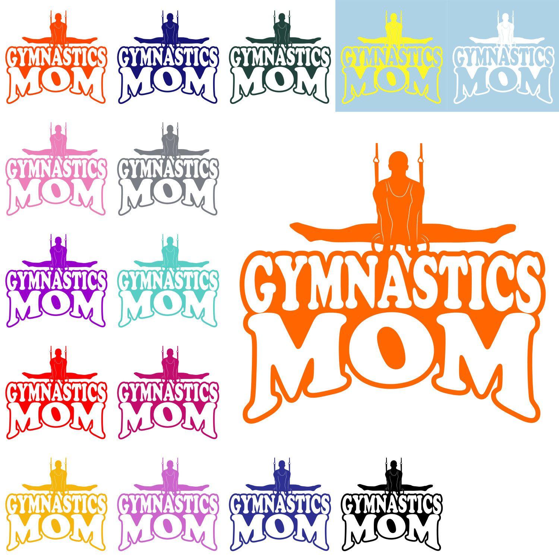 Gymnastics Mom Clip Art Custom Sticker