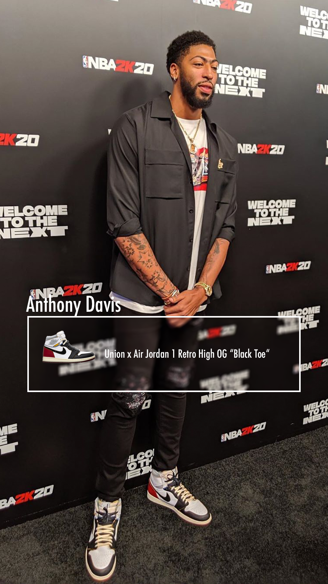 Anthony Davis: Union x Air Jordan 1 Retro High OG