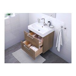 Godmorgon br viken meuble lavabo 2tir ch ne blanchi effet ch ne blanchi architecture - Modifier armoire melamine ...