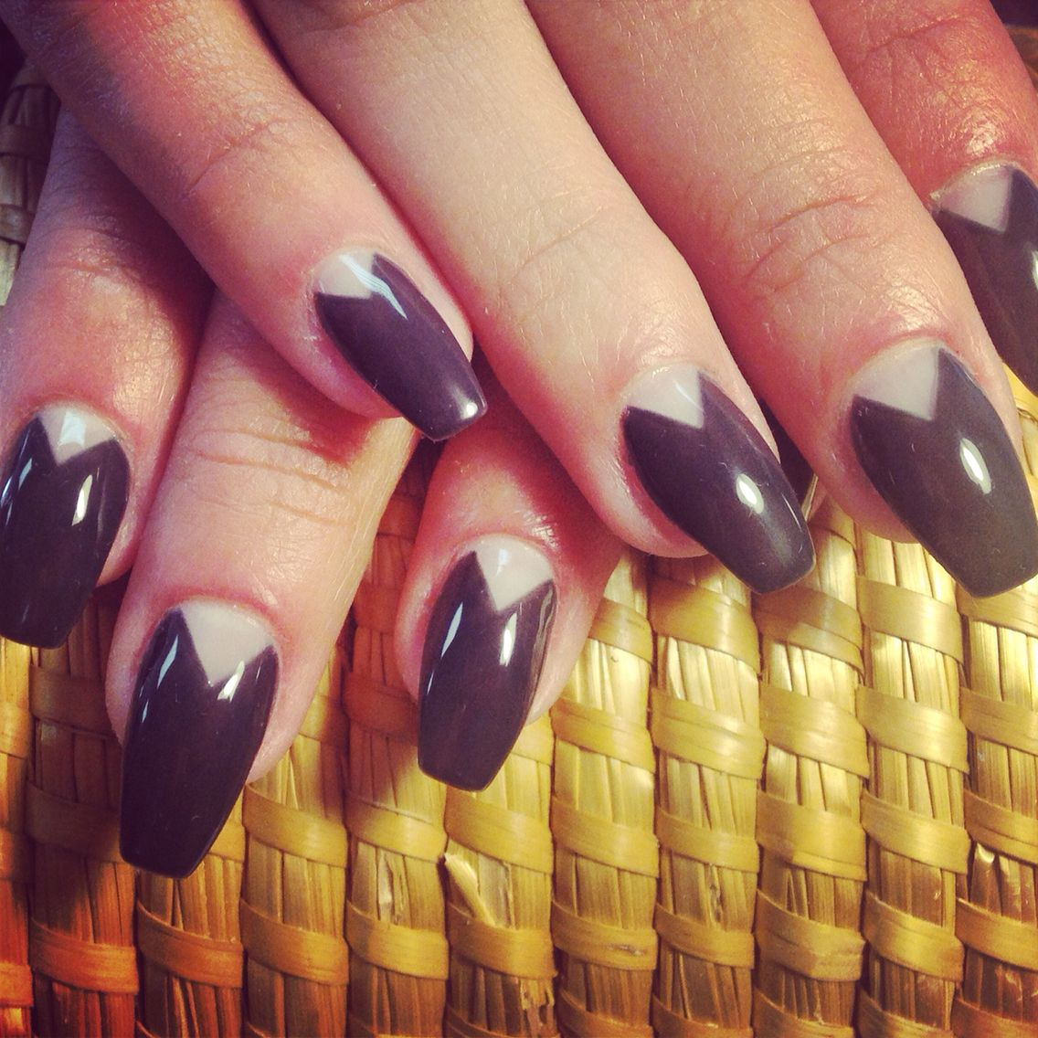New Shape of ballerina or coffin style nails