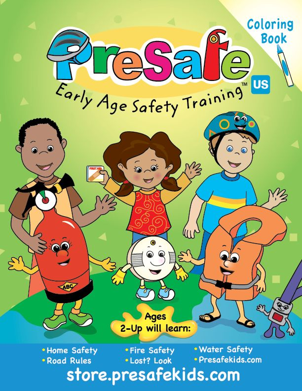 A Free Safety Coloring Book For Young Children In English