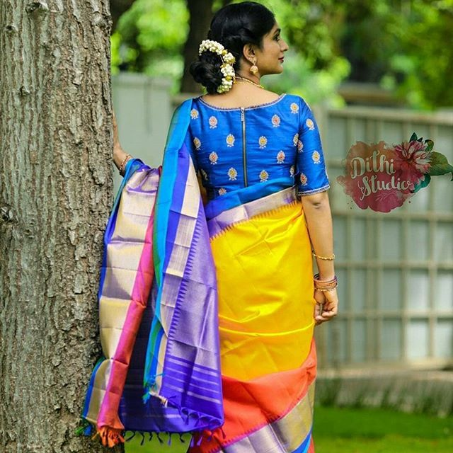 7904967e970815 12 High Neck Blouse Designs You Should Consider For Silk Sarees • Keep Me  Stylish