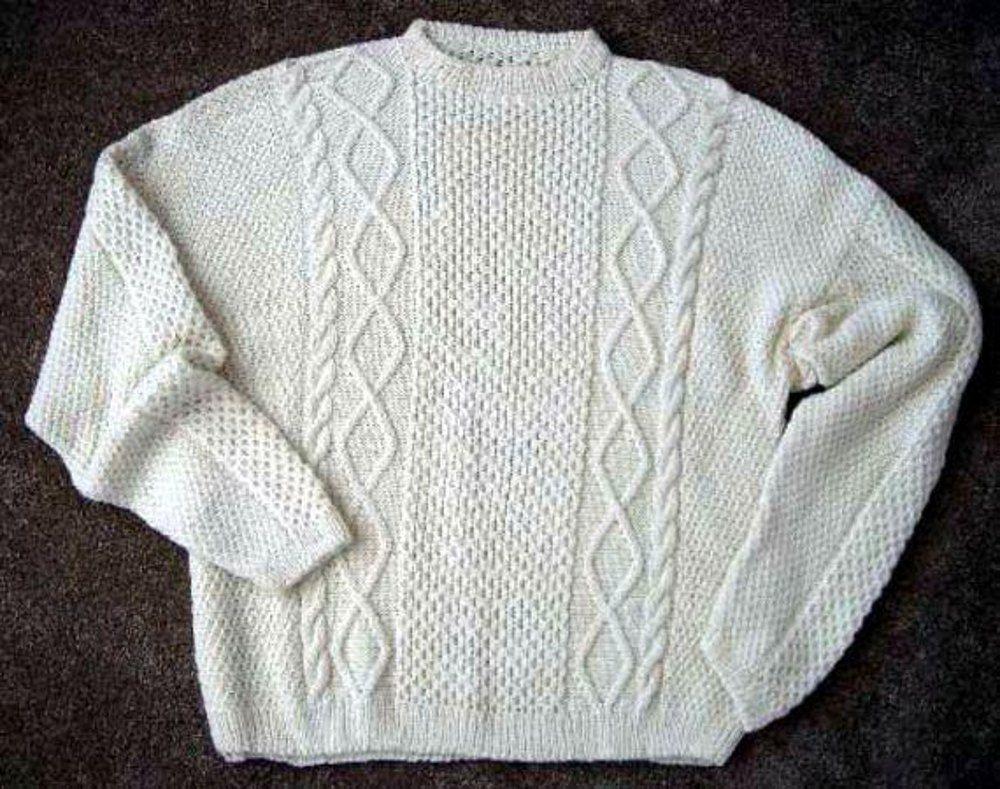 Man s Large Aran Sweater - - Knit ePattern | Men and Boys\' Thread ...