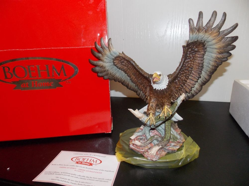 Boehm At Home Home Interiors American Spirit Bald Eagle Figurine W/Box  AWESOME