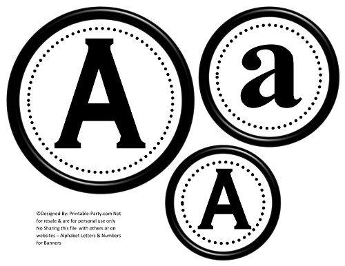 Printable Alphabet Letters AZ  Printable Banner Letters