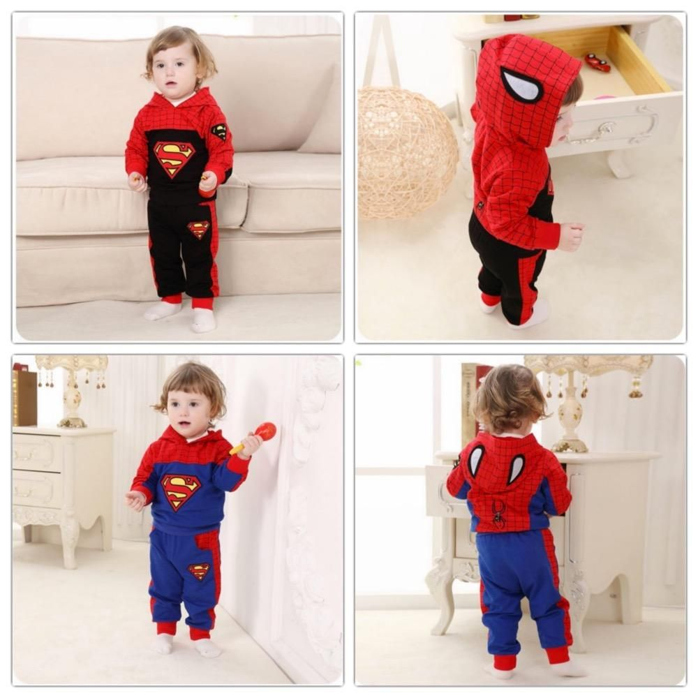 Baby Boys Clothes Boys Clothing Sets Spiderman 1-3T Stylish Cute Winter Hooded Tops And Pants from Smartmart,$14.53 | DHgate.com