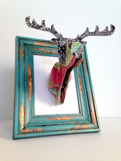 3D Deer Head Wall Art
