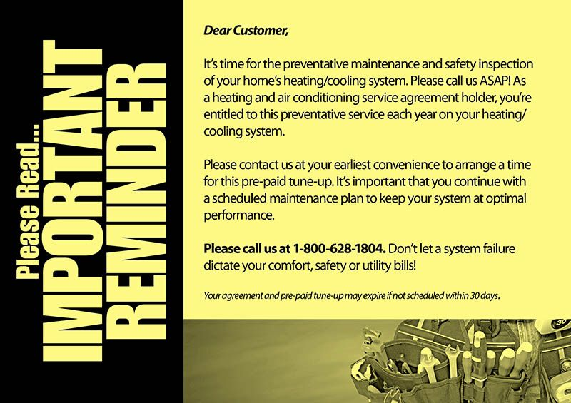 Check Out This Heating And Air Conditioning Postcard Marketing