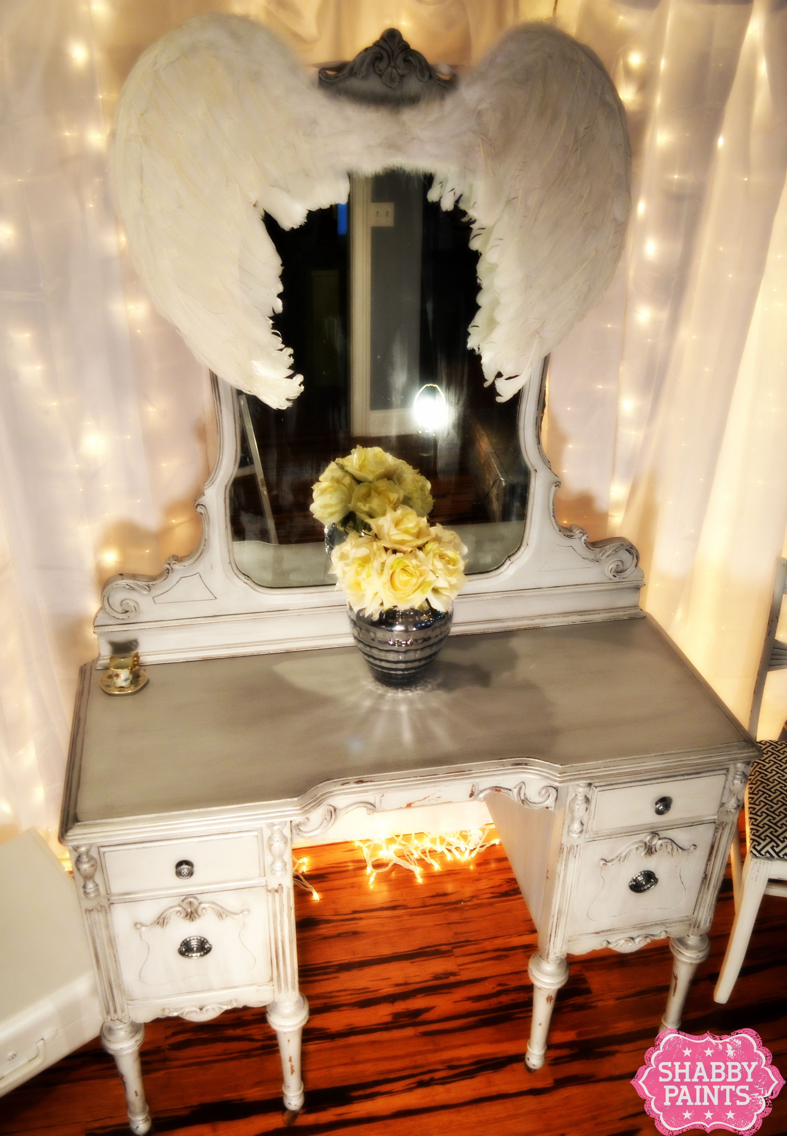 Hollywood Diva Chalk Painted Vanity Furniture Ideas Pinterest # Muebles Hollywood