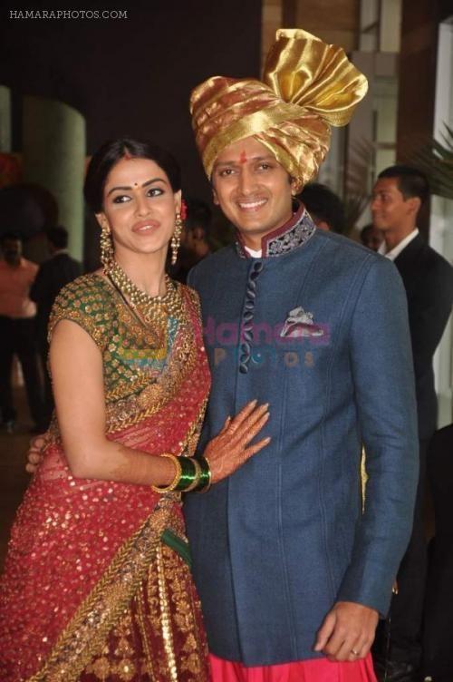 Genelia D Souza And Ritesh Deshmukh Wedding Reception Photos Google Search