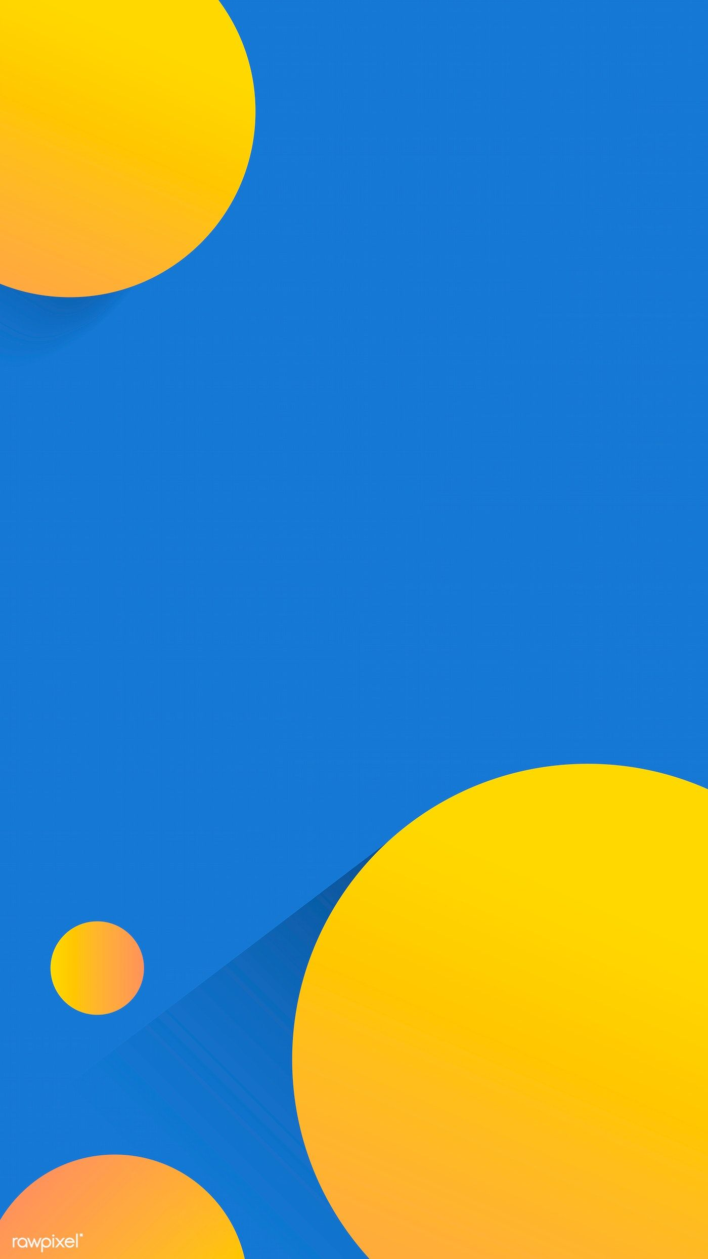 Round Yellow And Blue Abstract Background Vector Free Image By Rawpixel Com In 2020 Blue Abstract Abstract Backgrounds Blue Wallpaper Iphone