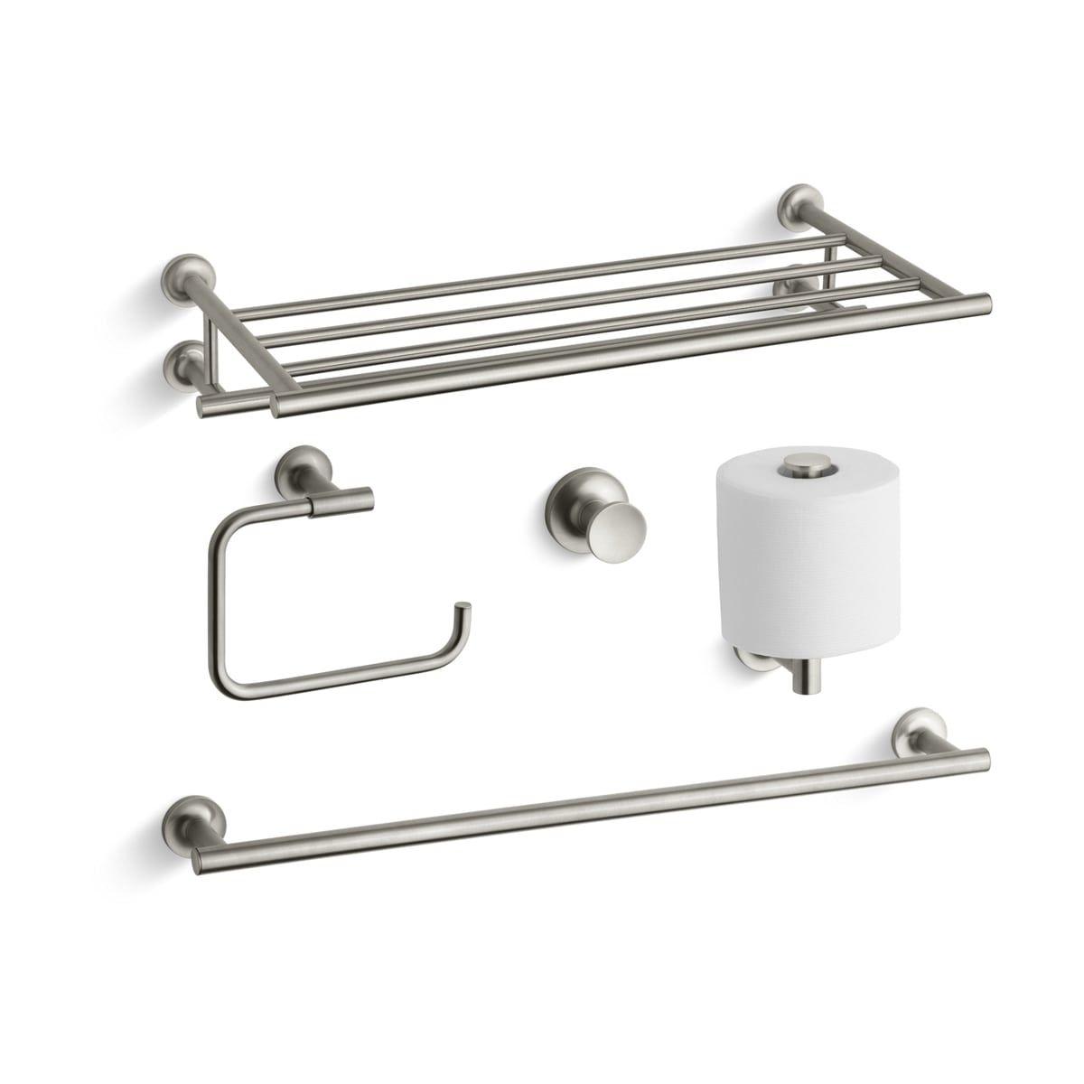 Bath Accessories Kohler Purist With Hotelier Towel Rack Kohler Purist Towel Bar