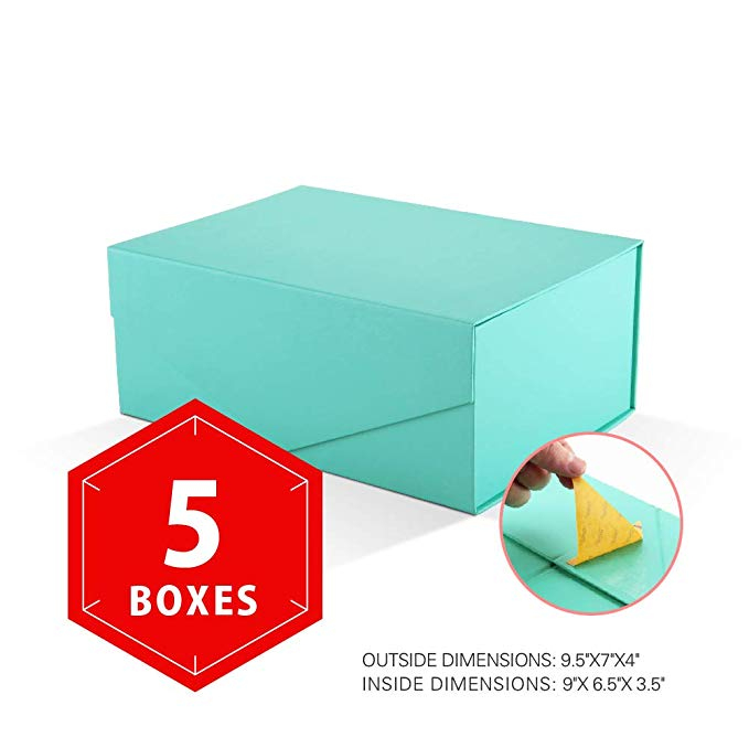 Amazon Com Packhome Gift Boxes Rectangular 9 5x7x4 Inches Bridesmaid Boxes Rectangle Collapsible Boxes With Magnetic Bridesmaid Boxes Gift Box Gift Packaging