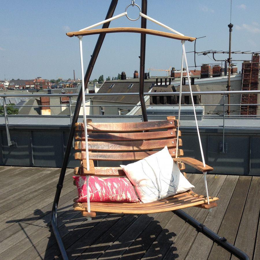 Unser swingchair ein h ngesessel schaukelstuhl aus dem for Schaukelstuhl rustikal
