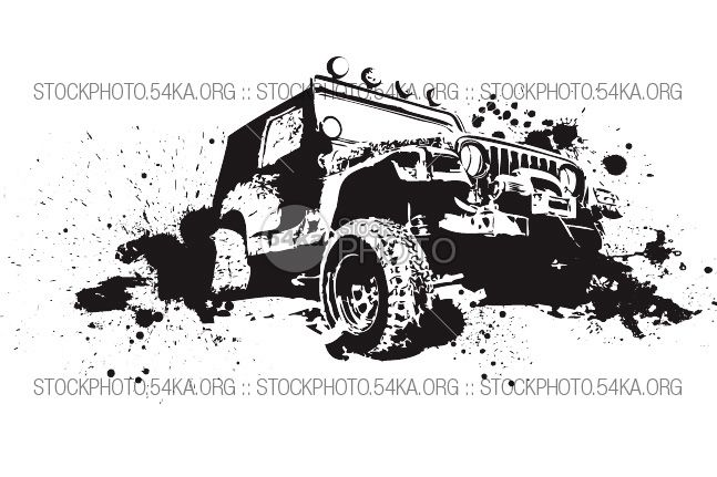 Vector Graphics Off Road 4 4 Jeep Art Vector Graphics Graphic