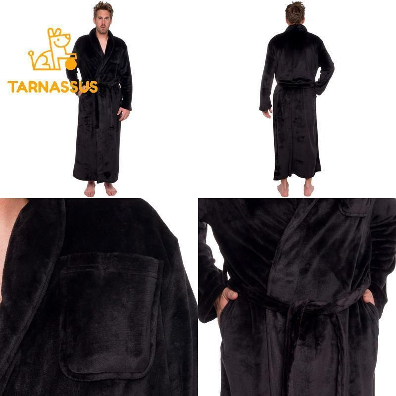 e32196057d Ross Michaels Mens Long Robe - Full Length Big   Tall Bathrobe  fashion   clothing