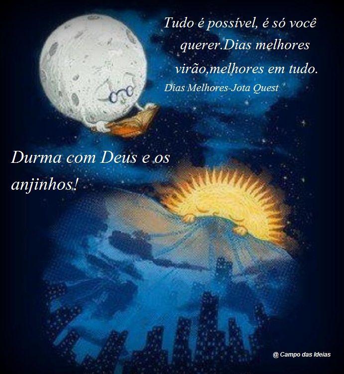 Durma Com Deus Arte Da Lua Boa Noite Lua Arte Lunatica